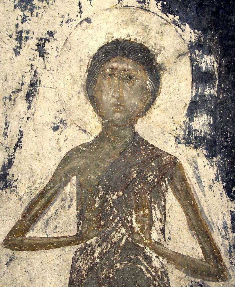 1.Мария Египетская. XI век. Фреска.jpg