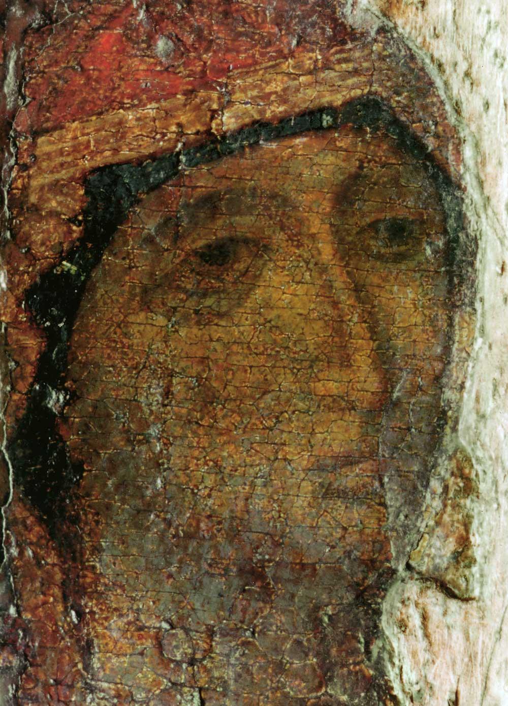 2. Боголюбская икона Богородицы. Ок. 1158–1174 гг. Владимиро-Суздальский музей-заповедник. Лик.jpg