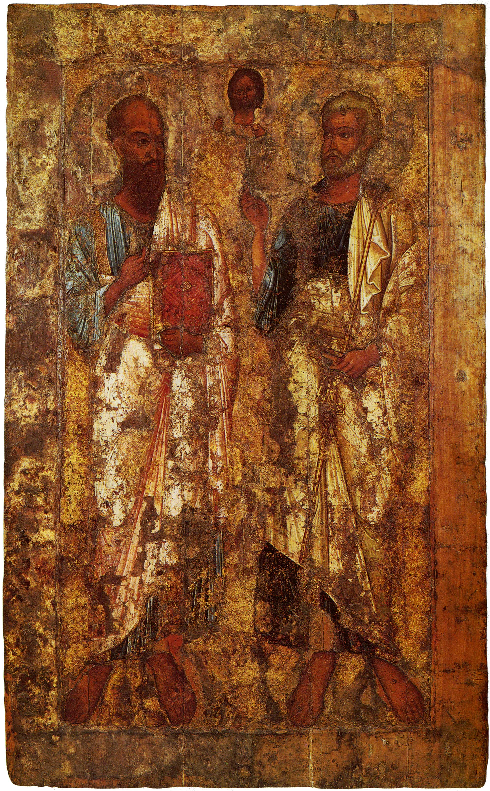 1.Святые апостолы Петр и Павел. Икона. XI век. Находится в Новгородском музее-заповеднике
