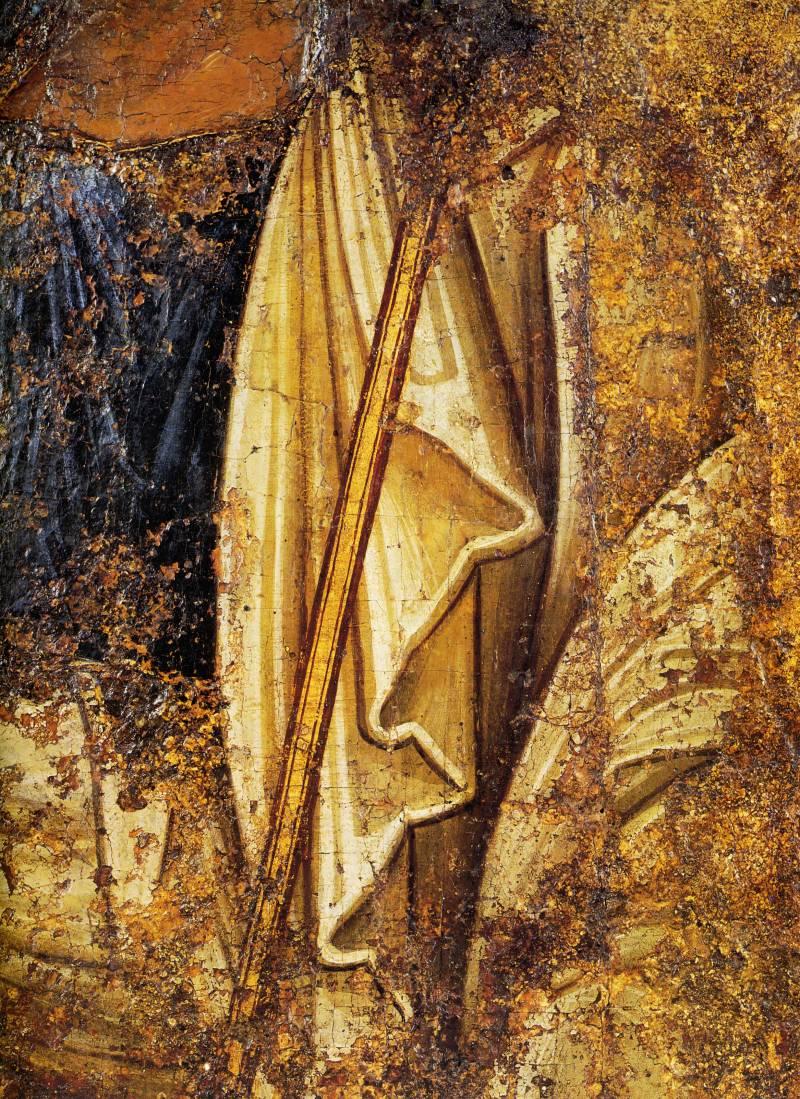 2.Святые апостолы Петр и Павел. Икона. Фрагмент. XI век. Находится в Новгородском музее-заповеднике